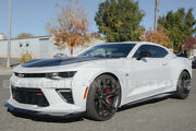 Zl1 1le Style Glossy Black Front Lip Splitter And Side Skirt For 16-up Camaro Ss
