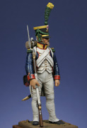 French Voltigeur In Shako, 1806 Tin Painted Toy Miniature Pre-sale | Art