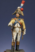 French Drum Major Of The 67th Regiment Tin Painted Toy Miniature Pre-sale   Art