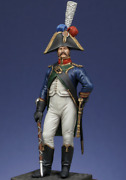 French Drum Major Of The 4th Regiment Tin Painted Toy Miniature Pre-sale   Art