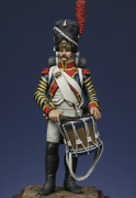 French Drum Major Of The Grenadiers Tin Painted Toy Miniature Pre-sale   Art