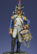 French Drum Major Of The 42nd Fusilers Reg Painted Toy Miniature Pre-sale   Art