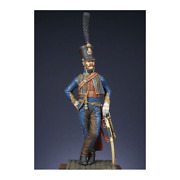 French Captain Of The 5th Hussar Regiment Painted Toy Miniature Pre-sale   Art