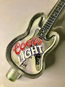 Coors Light Rare Electric Bass Guitar Tap Handle Pre-owned