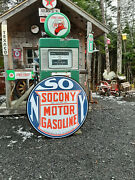Classic Xtra Large 37 Inch Socony Gasoline Sign