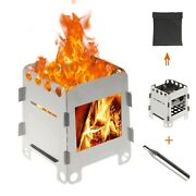 Wood Burning Stove Lightweight Alcohol Burner And Bellows Camping Hiking Wholesale