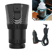 12v Car Plug Heating Cooling Cup 2in1 Warmer Heater Cooler Drink Can Holder 1x