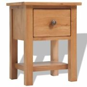 Bedside Table Nightstand Solid Oak Wood End Side Table With Storage Drawer