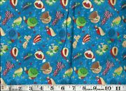 Itand039s Snow Fun Blue 100 Cotton Fabric 1/2 Yard By Southseas Imports