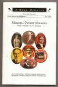 Magician Pocket Mirrors By Randy J. Forgaard And Burton S. Sperber 89/250 - Signed
