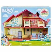 New Bluey Blue Heeler Dog Bluey's Family Home House Playset Figure Pack And Go