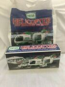2001 Hess Helicopter W/cruiser And Motorcycle And Bag Never Used