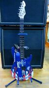 Rare Pabst Beer Peavey Rockmaster Guitar Pabst Strap And Stand Excellent Condition