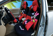 New 1 Sets Cute Cartoon Mickey Mouse Minnie Universal Car Seat Cover Plush 802