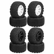 4pcs 1/10 Rc Car Tire Off‑road Tyre Sqaure Tooth Wheel Tires For Himoto Drekker