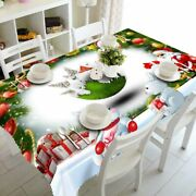 New Year Christmas Tablecloth Kitchen Dining Table Decoration Home Party