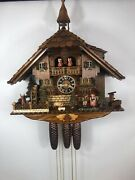 black Forest 8 Day Musical German Cuckoo Clock, See Video New Hones 8638t