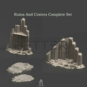 Gothic City Ruins Craters 3d Printed Terrain Scenery For Warhammer 40k