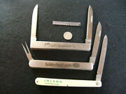 Schrade Usa And Kutmaster Folding Knives-watermellon-fruit-vegetable Knives-lot 3
