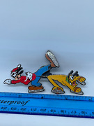Disney Artist Proof Spectacle Of Pins Christmas Goofy And Pluto Skating - Rare