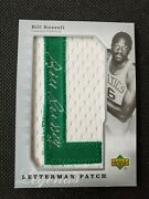 2006-07 Bill Russell Chronology Letterman Auto Patch Sp 6/40 Autograph Jersey6