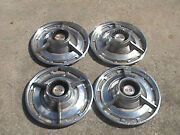 1960,s Chevy Ss Vintage Set Of 4 Hubcaps 14