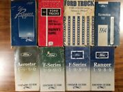 Vintage Original Misc Ford Truck And Van Owner Guides And Manuals 8-lot