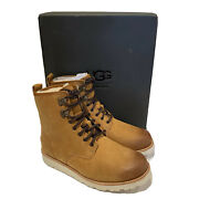 Ugg Mens Hannen Tl Boots Leather Chestnut Waterproof Size 7 Brown New