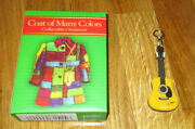 Lot Of 2 Dollywood Dolly Parton Coat Of Many Colors And Guitar Christmas Ornaments