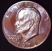1973-s Silver Eisenhower Proof Dollar 1 Uncirculated 405