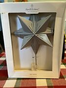 Hearth And Hand With Magnolia Metal Star Shaped Silver Tree Topper 9 X 13 New