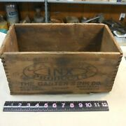 Antique Wooden Carter's Ink Dovetailed Box 343