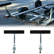 Boat Trailer 2and039 Side Guide On Bunk Board Carpeted Kit W/ Hardware