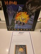 Autographed Def Leppard Pryomania Album By All 5.....epperson Full Letter Cert