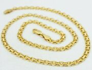 14k Yellow Gold Bismark Link Chain Necklace Italian 20.25 4.6mm 12.6g S1639