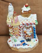 Fitz And Floyd Nutcracker Sweets Gingerbread House Christmas Cookie Jar