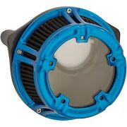 Arlen Ness 18-180 Blue Method Clear Series Air Cleaner For Harley M8 17-20
