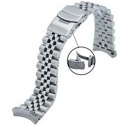 316l Jubilee Stainless Steel Watch Band 22mm Made To Fit Seiko Skx007/009/011