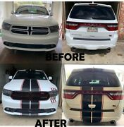 2 Color 10 Twin Rally Stripes Stripe Graphics Decals Fit All Yr Dodge Durango