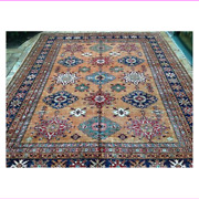 Oriental Rug Fine Super Kazak Wool Hand Knotted Tribal Design Rug 8and039 X 10and039 2
