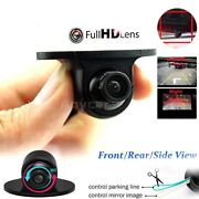 Car Camera Hd Night Vision Ir Lens Waterproof Front Side Wide Angle Rear Viewing