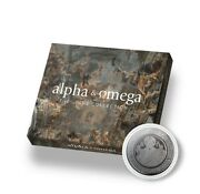 2021 Samoa The Jesus Collection Alpha And Omega Silver Pf/blk Rhodium Coin W/omp