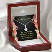 Mother-in-law Necklace How Fortunate Eternity Ribbon Stone Pendant Keepsake Mess