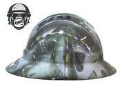 Custom Hydrographic Wide Brim Safety Hard Hat Mining Army Aces Wide