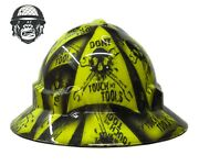 Custom Hydrographic Wide Brim Safety Hard Hat Mining Dont Touch My Tools Wide