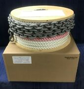 Good R/c 9/16 X 200and039 Depth Color-coded Anchor Line W/ 10and039 5/16 Bbb Galv. Chain