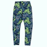 Fabletics Womenand039s Small Leggings Hi Rise Blue Green Floral Ships Fast
