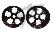 Gsxr 240 Fat Tire Solid Black Street Fighter Wheels 06-07 Suzuki Gsxr 600 750