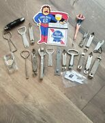 Vintage Bottle And Can Opener Lot With Pabst Sticker