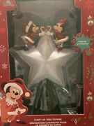 Disney Store Mickey And Minnie Mouse Light-up Christmas Tree Topper Bnib Sealed